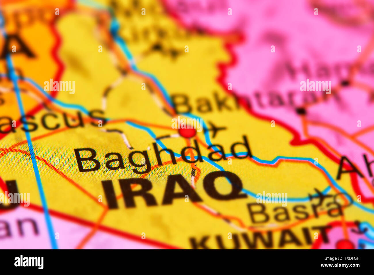 Worksheet. Baghdad Capital City of Iraq in the Middle East on the World Map