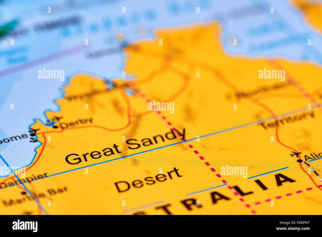 Great sandy desert in australia on the world map stock photo great sandy desert in australia on the world map gumiabroncs Choice Image