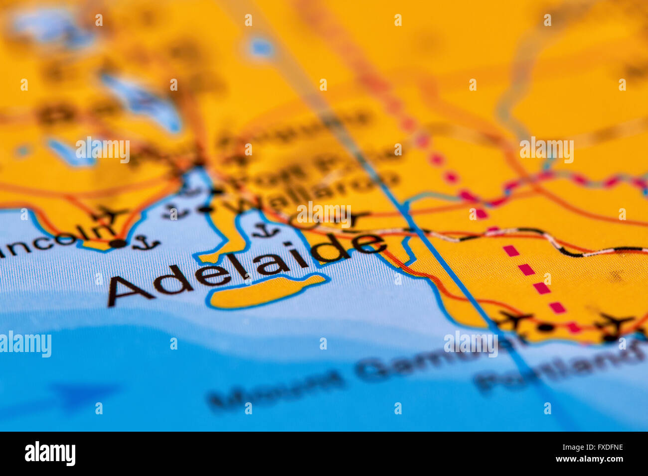 Adelaide city in australia on the world map stock photo royalty adelaide city in australia on the world map gumiabroncs Image collections