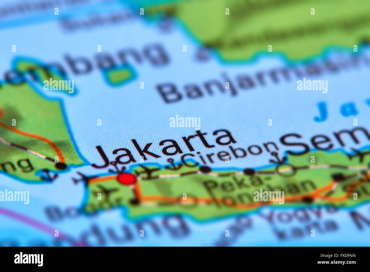 Jakarta capital city of indonesia on the world map stock photo jakarta capital city of indonesia on the world map gumiabroncs Images