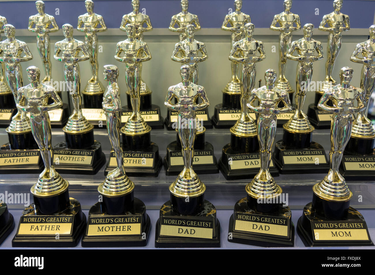 Oscar Trophy Statue Souvenirs On Sale In A Store In Universal ...