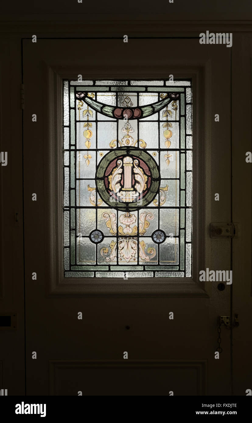 Edwardian stained glass door panel stock photo royalty free image edwardian stained glass door panel eventelaan Images