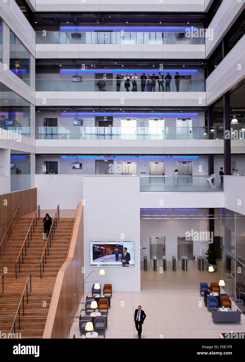 High Level Interior View Of Main Atrium Space City Glasgow College