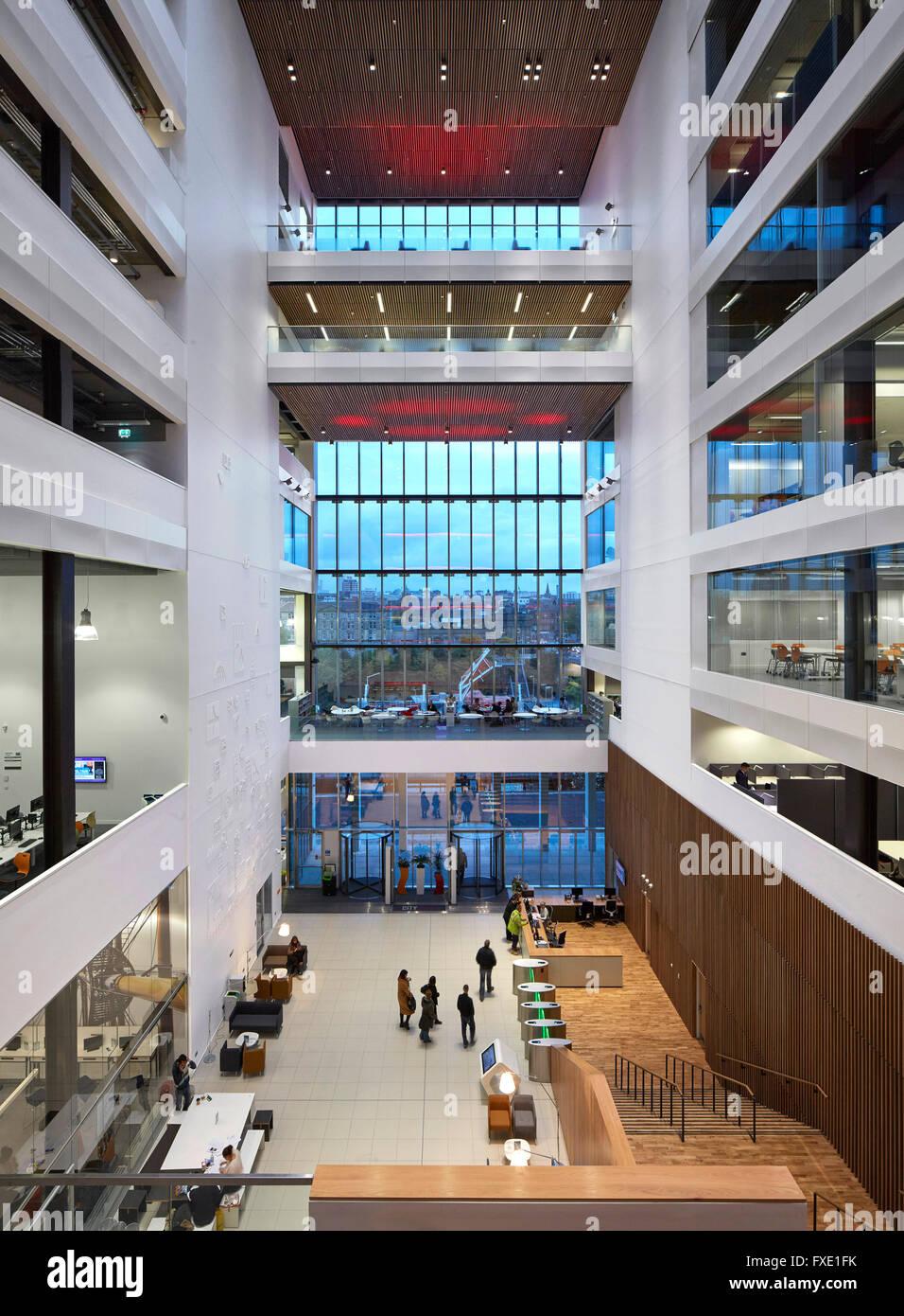 High Level Interior View Of Main Atrium Space City Glasgow College