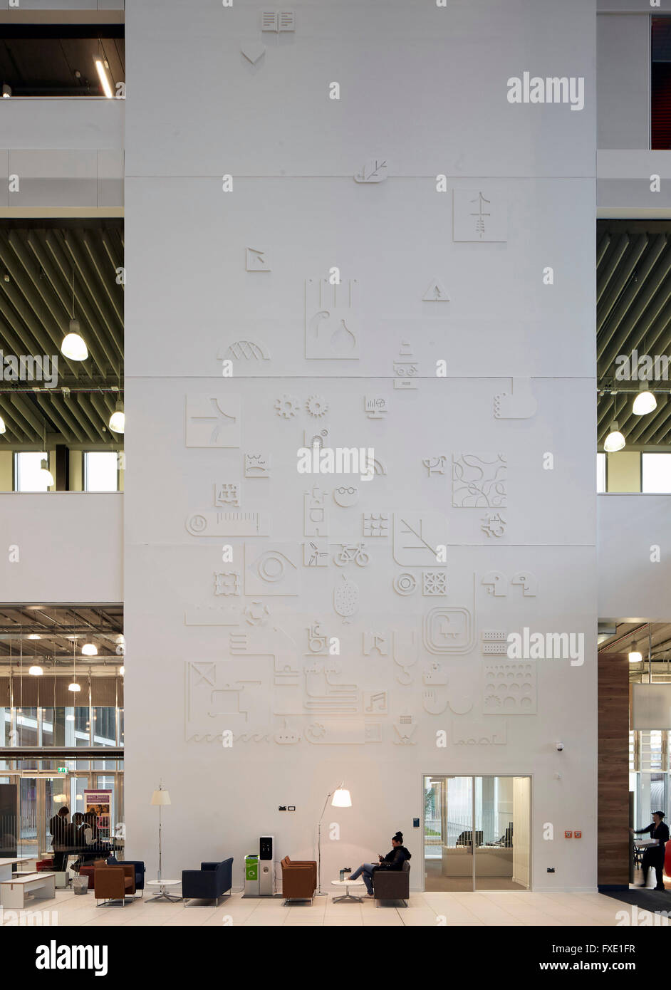 Interior View Of Main Atrium Space City Glasgow College