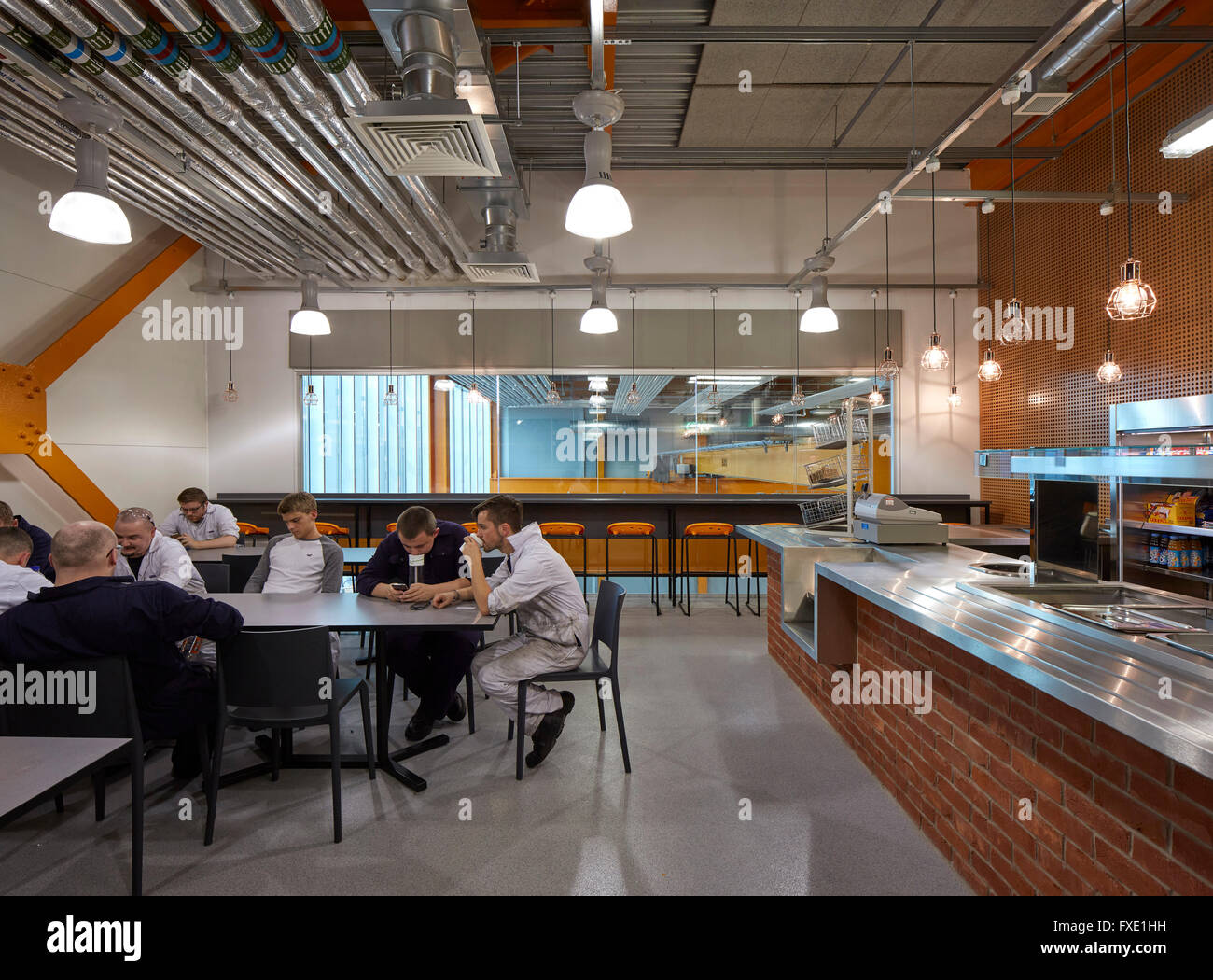 Interior View Of Engineering Workshop Cafe City Glasgow College