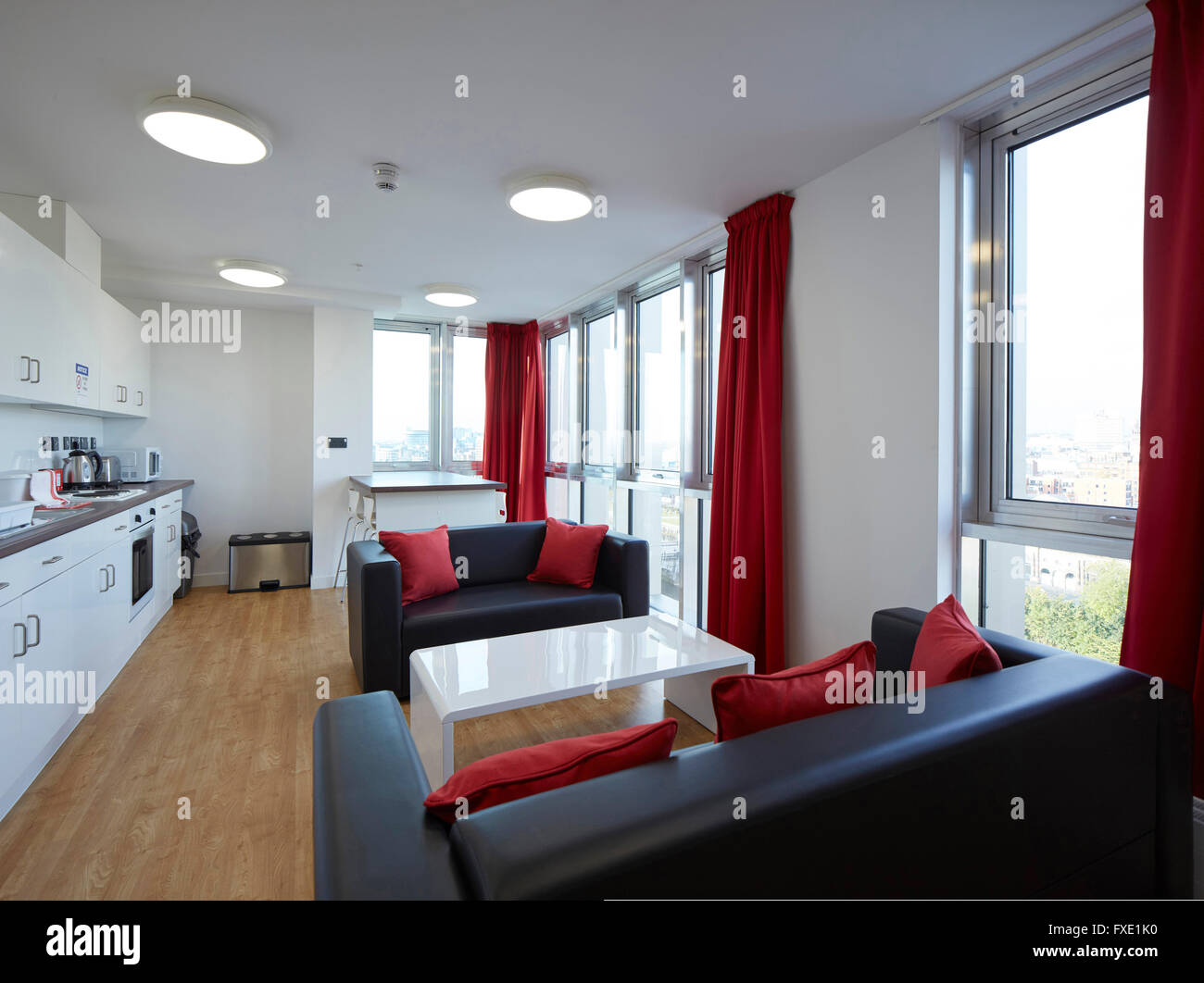 Interior View Of Student Accommodation Siting Room City Glasgow College