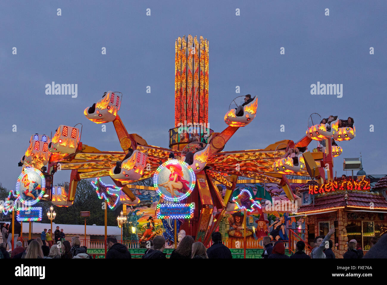 ride hexentanz fun fair dom hamburg germany stock photo royalty free image 102345890. Black Bedroom Furniture Sets. Home Design Ideas