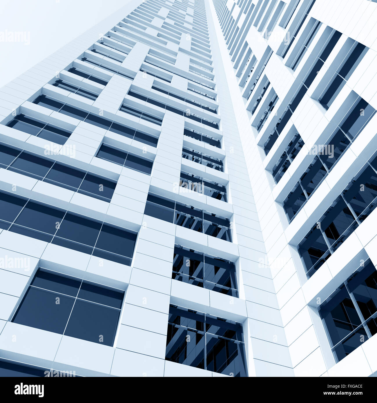 Modern Architecture Render abstract modern architecture. perspective of tall building with