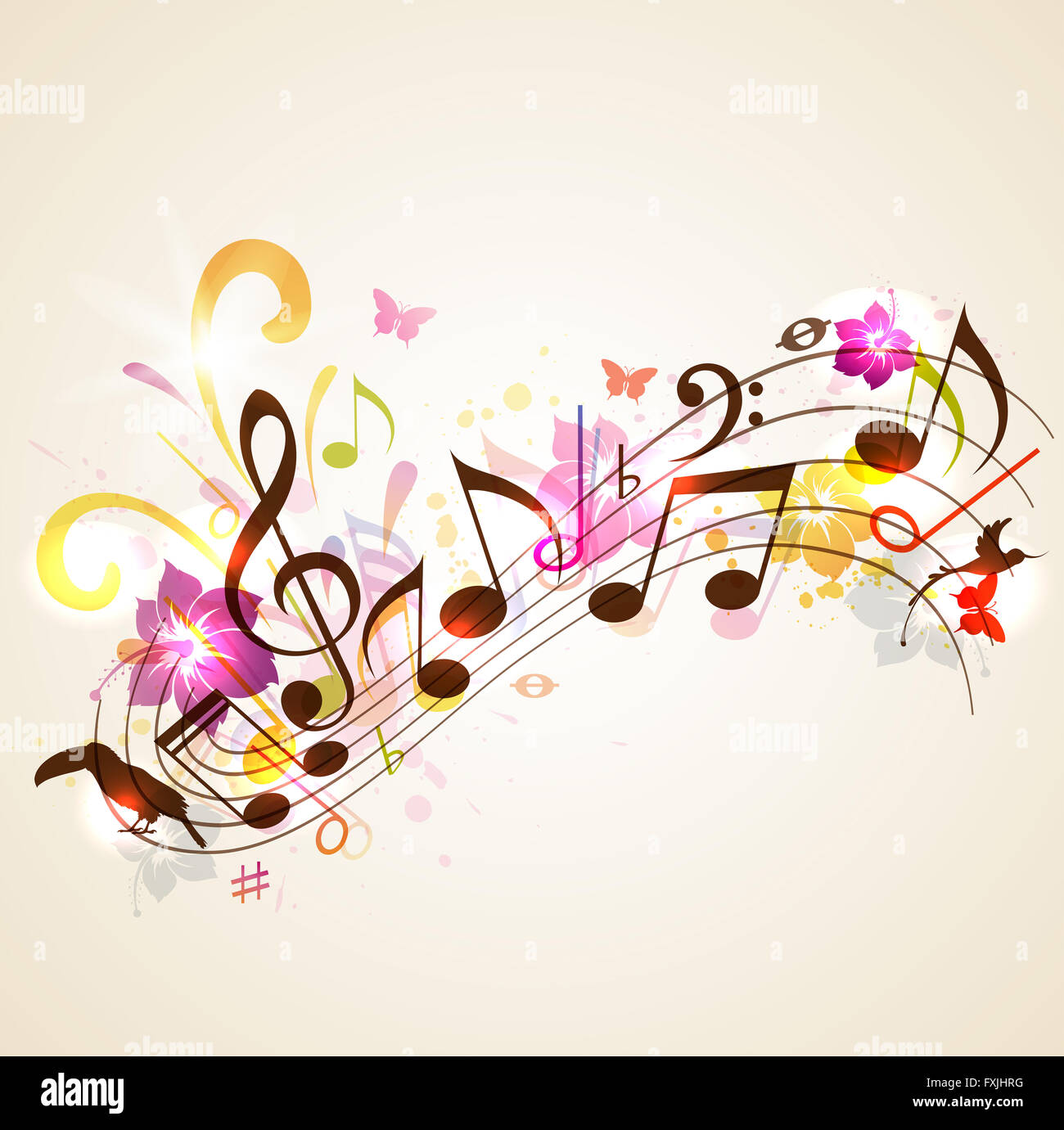 music notes backgrounds floral -#main