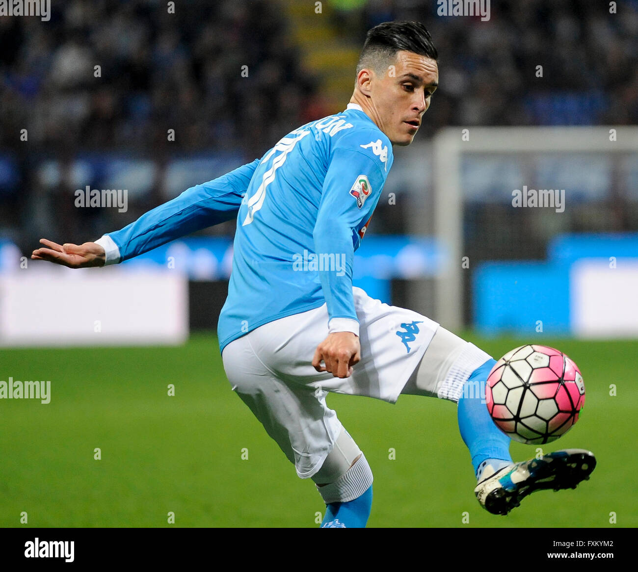 Milan Italy 16 April 2016 Jose Maria Callejon in action during