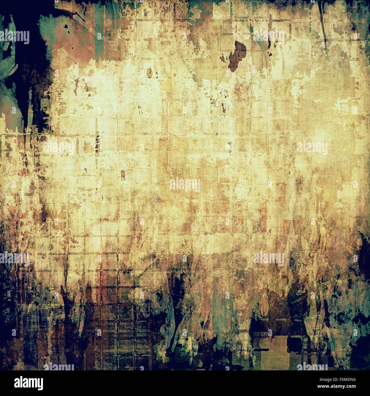 Background image mdn - Old School Elements On Textured Grunge Background With Different Color Patterns Yellow Beige