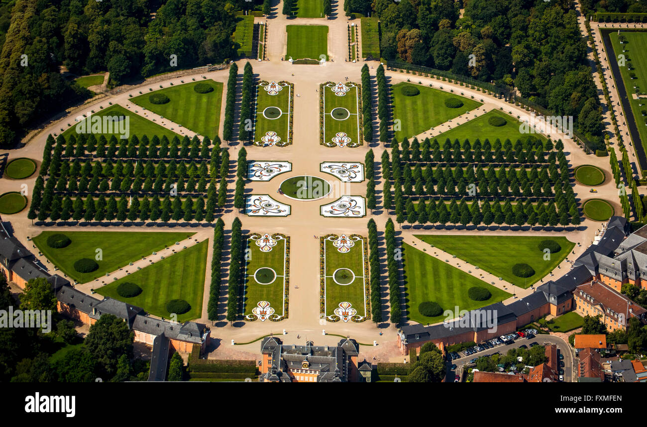 Aerial View, French Garden, Baroque Garden With The Longitudinal And  Lateral Axes, Schwetzingen