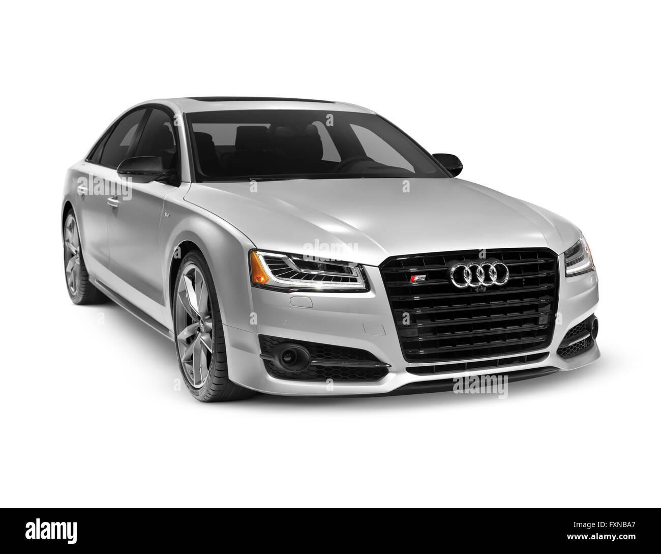 Audi s8 plus white dress