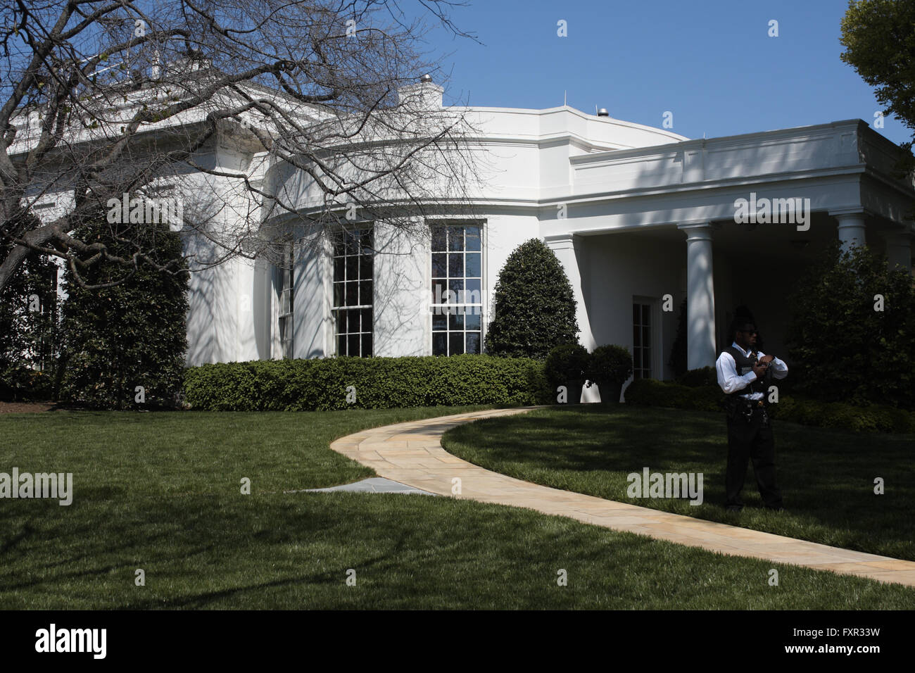 where is the oval office. the exterior of oval where is office