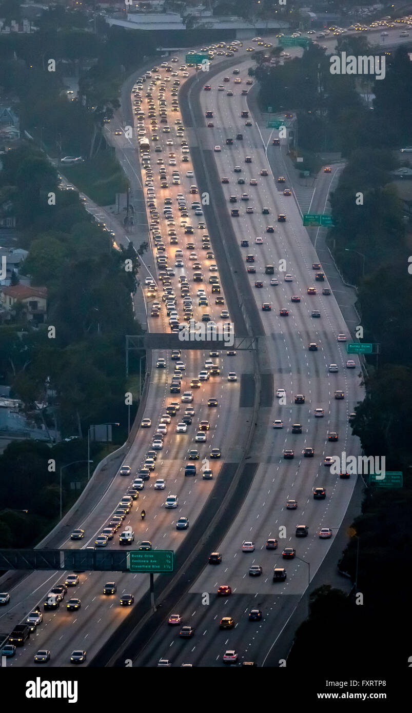 Freeway Traffic Stock Photos   Freeway Traffic Stock - Los angeles freeway map traffic