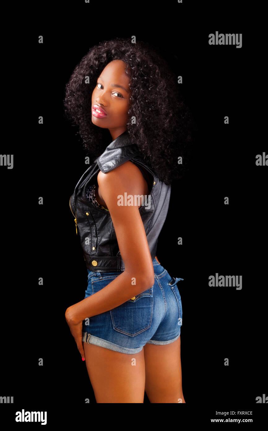 Skinny ebony slut