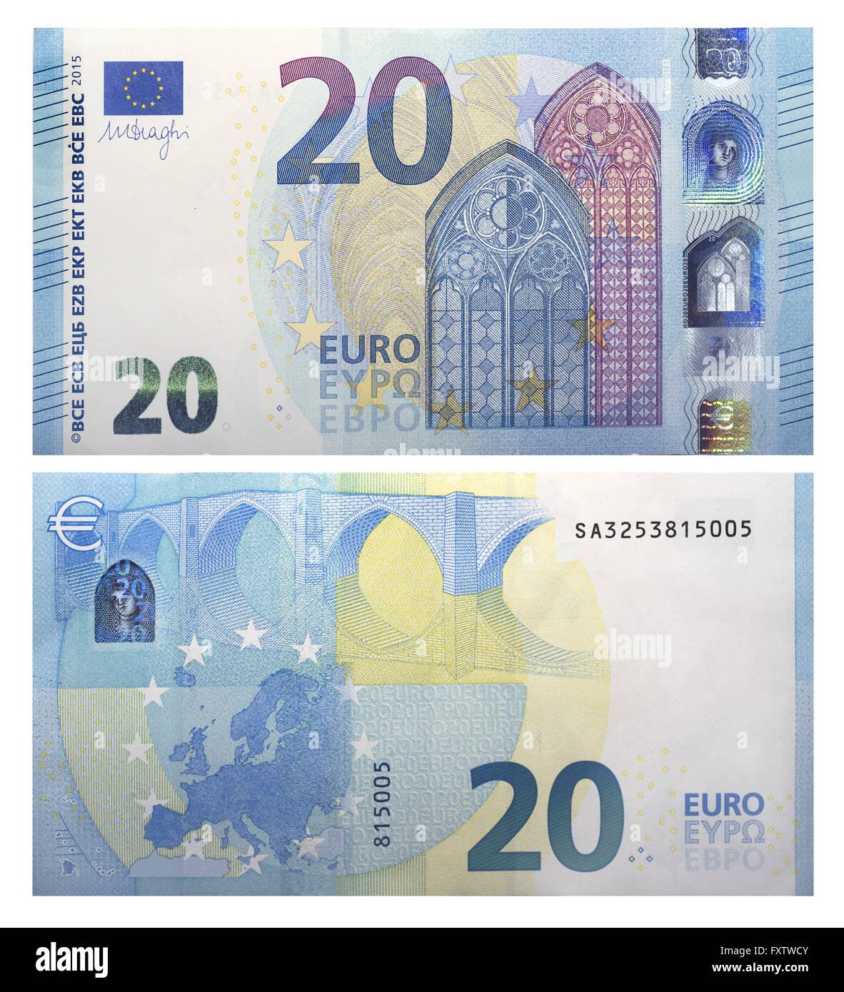 Euro banknotes key generator
