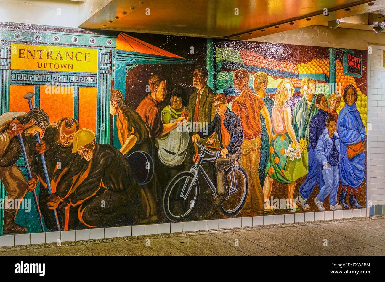 Mural At Times Square, Subway, New York City Part 82