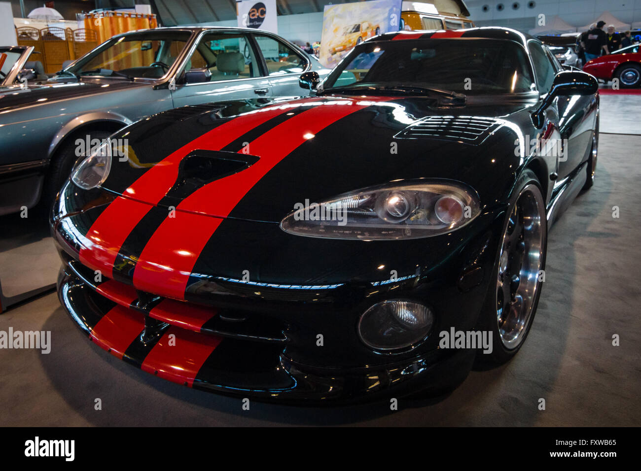 Stuttgart germany march 17 2016 sports car dodge viper gts 1999