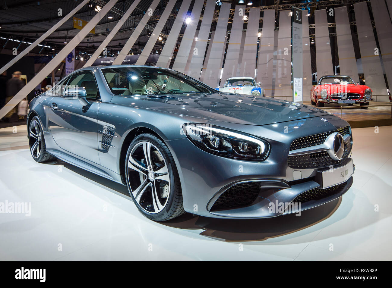 sports car mercedes benz sl 400 r231 2016 stock photo