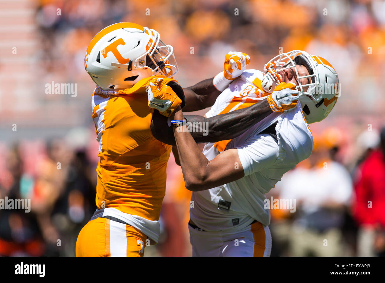 April 16 2016 Jeff George 19 blocks Josh Malone 3 during the