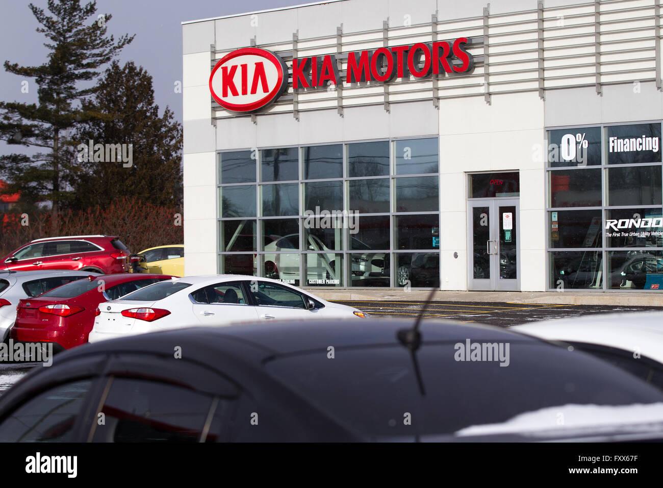 Kia Motors Dealership In Kingston Ont On Monday Jan 11 2016 Stock Photo Royalty Free Image