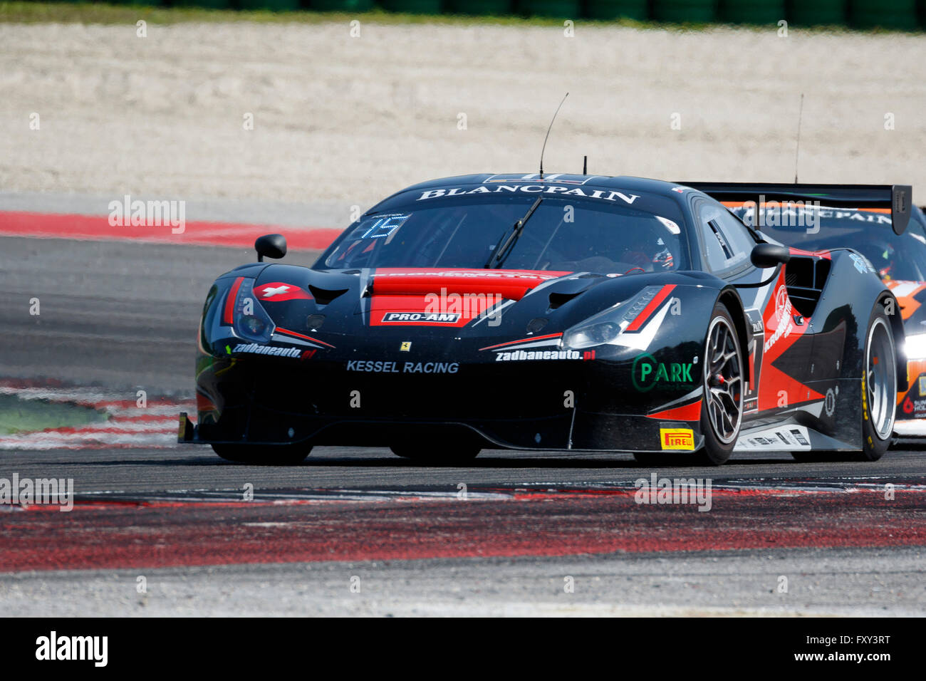 misano adriatico italy april 10 2016 ferrari 488 gt3 of kessel stock photo royalty free. Black Bedroom Furniture Sets. Home Design Ideas