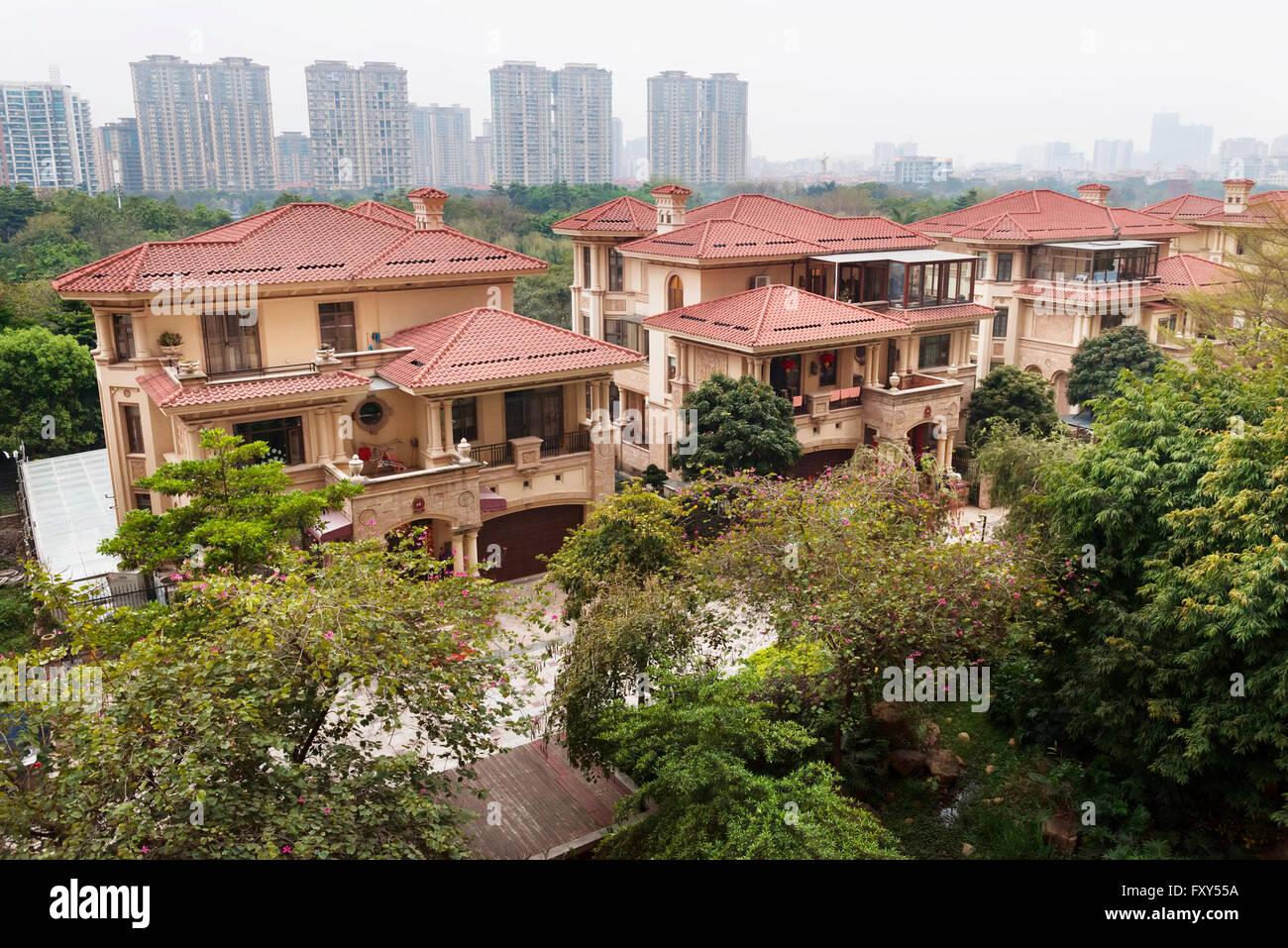 Houses In A Luxury Residential Area In Hu Jing Lu