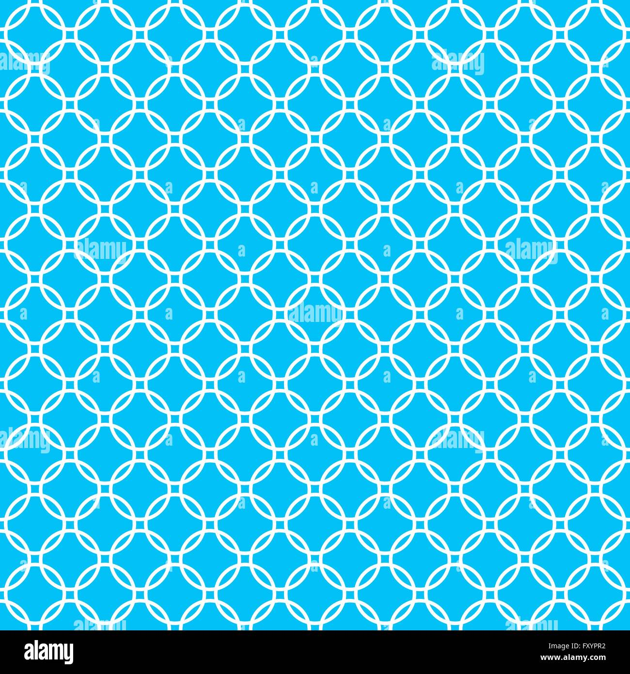 blue background fabric with white cross circles seamless