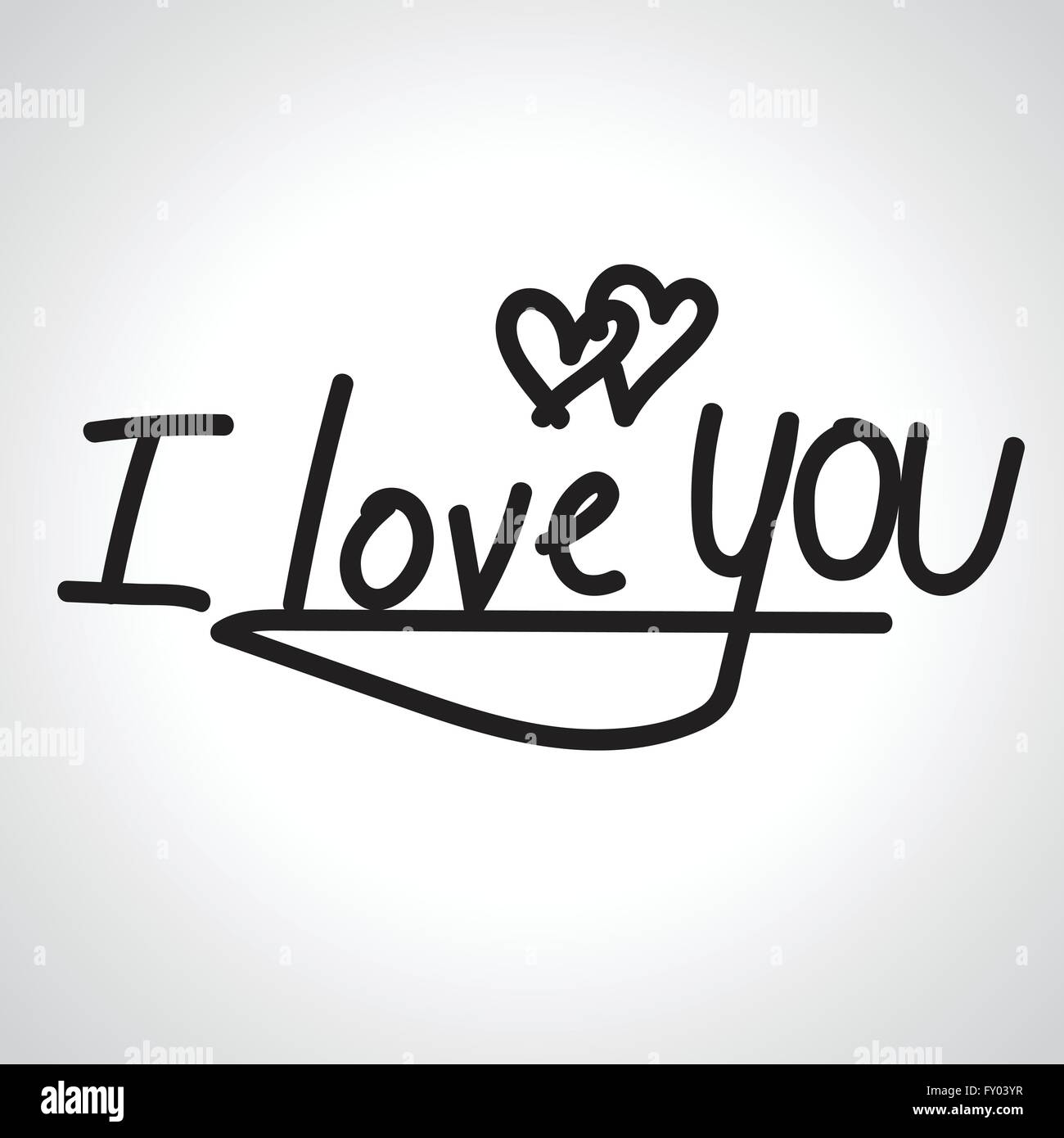 I love you hand lettering handmade calligraphy stock