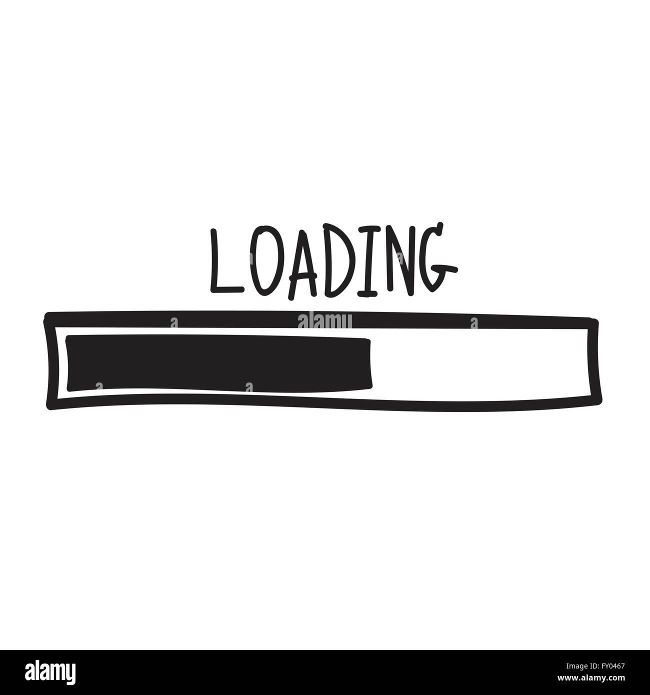 Loading Progress Bar Design Vector Illustration Stock