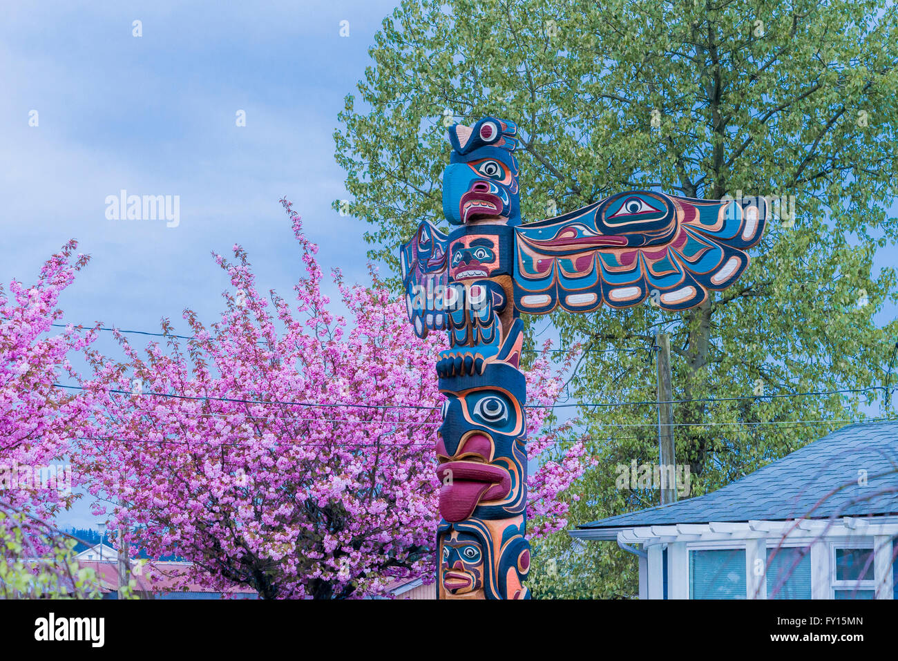 Totem Pole, Campbell River, British Columbia, Canada