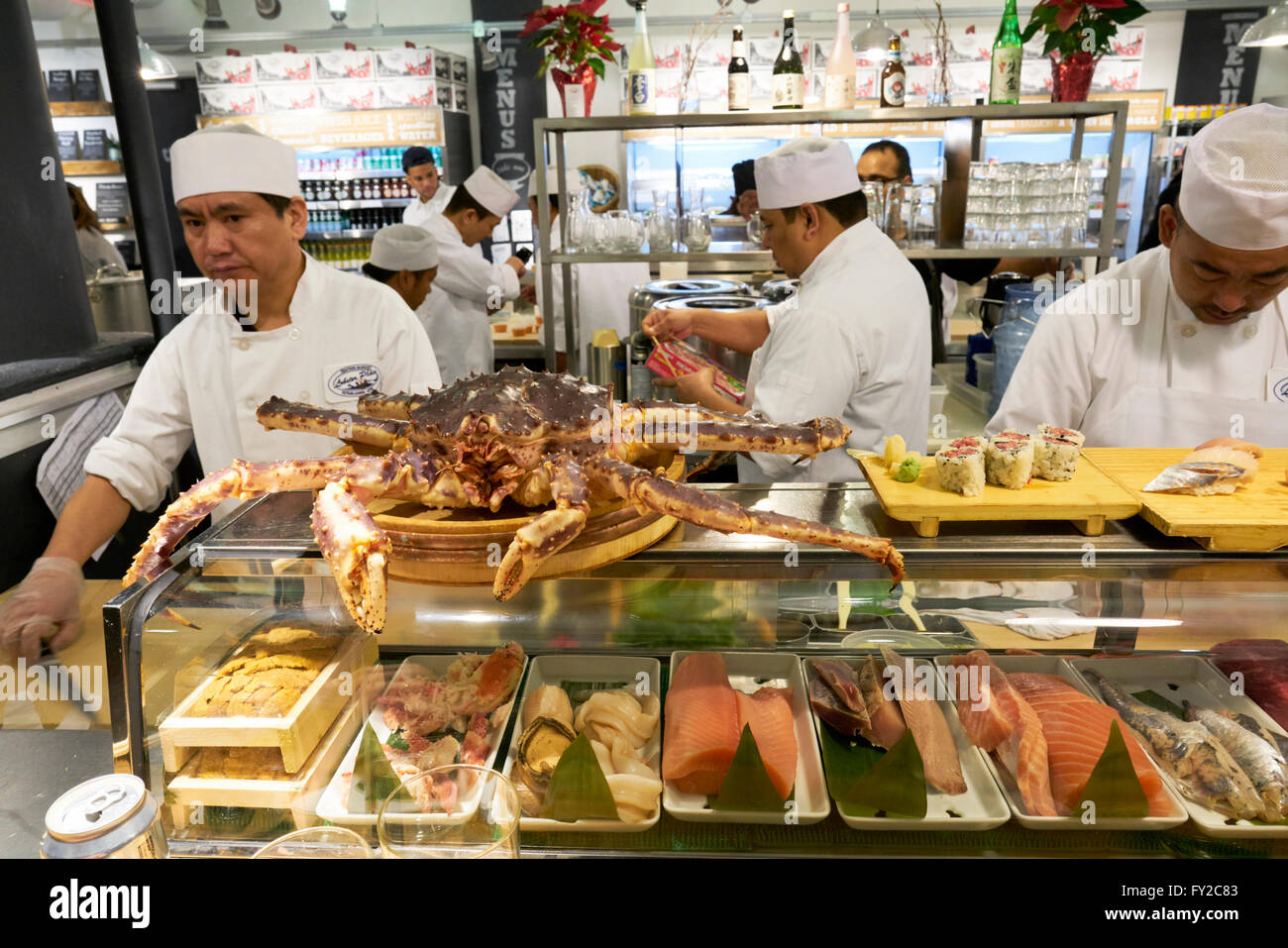 Fresh fish at chelsea market new york stock photo royalty for Fish market nyc
