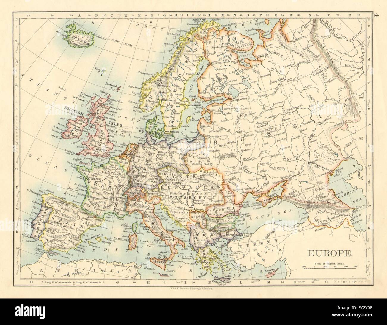 EUROPE POLITICAL AustriaHungary United Sweden Norway - Norway map in english