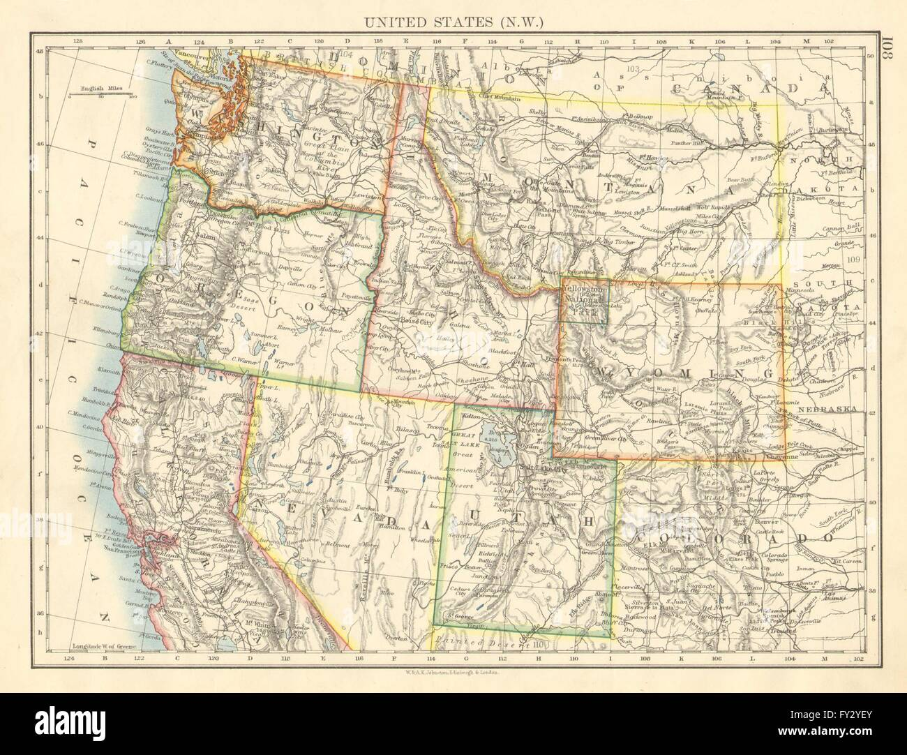 Usa North West Washington Oregon Id Mt Wy Utah Nevada Cajohnston – Map Usa North West