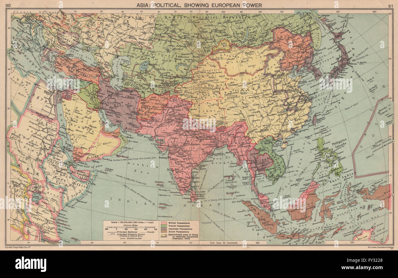 Ww2 asia european colonies japanese occupied china manchukuo japanese occupied china manchukuo 1940 old map gumiabroncs Image collections