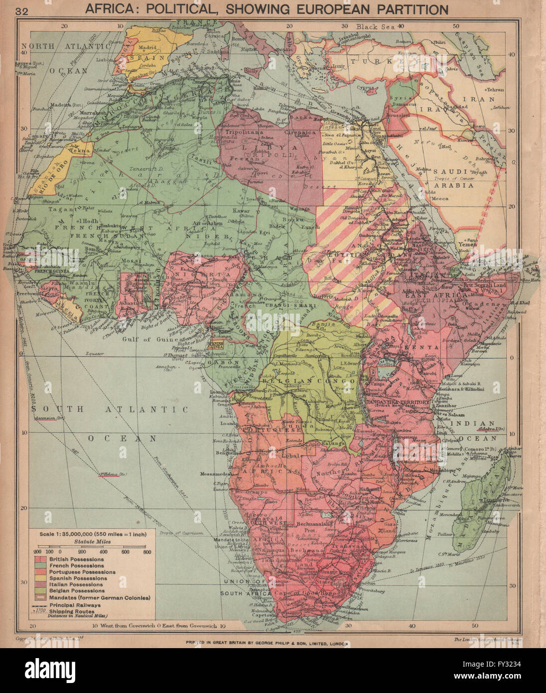 Africa Map Cities%0A SECOND WORLD WAR AFRICA Showing European colonies German