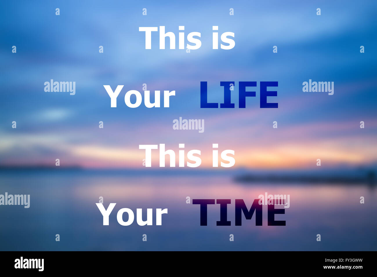 This Is Your Life Quote This Is Your Life This Is Your Time Inspirational Quote On Sunset