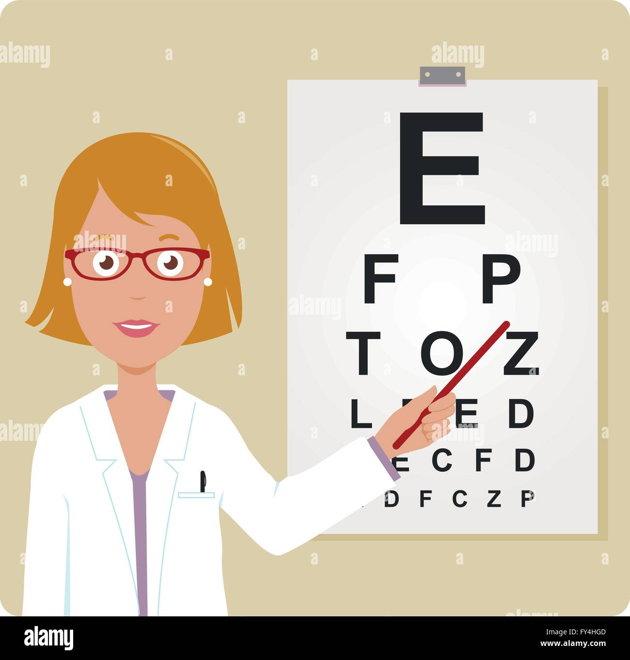 Female ophthalmologist examining a patient using the eye chart stock female ophthalmologist examining a patient using the eye chart nvjuhfo Choice Image