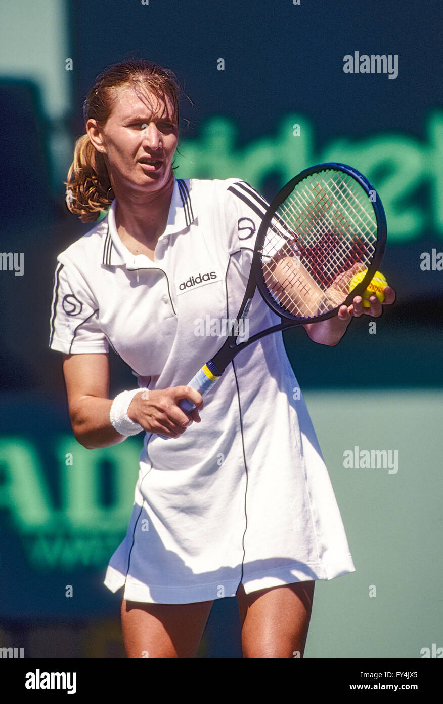 Images Steffi Graf Top steffi graf (ger) competing at the 1996 lipton open stock photo