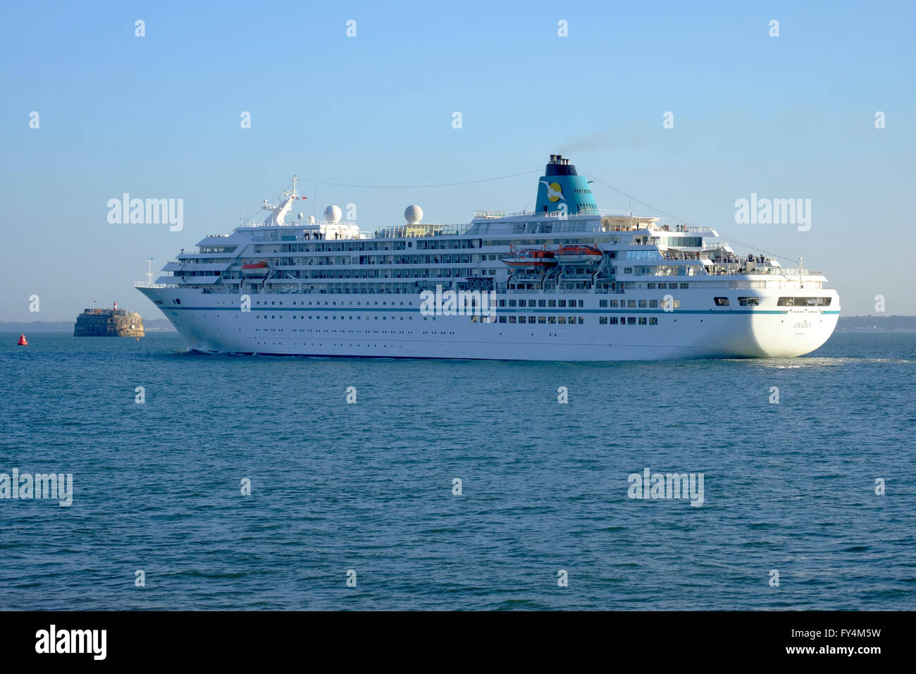 Cruise Ship Mv Amadea In The Solent Off Southsea Departing From - Cruise ship amadea