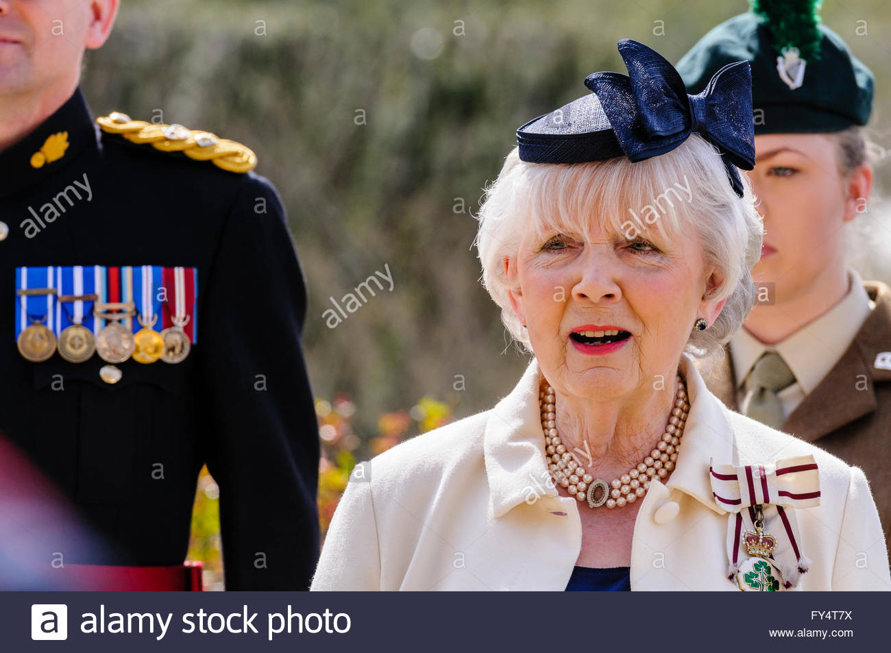 british representative stock photos british representative stock hillsborough northern apr 21 2016 lord lieutenant of county antrim mrs