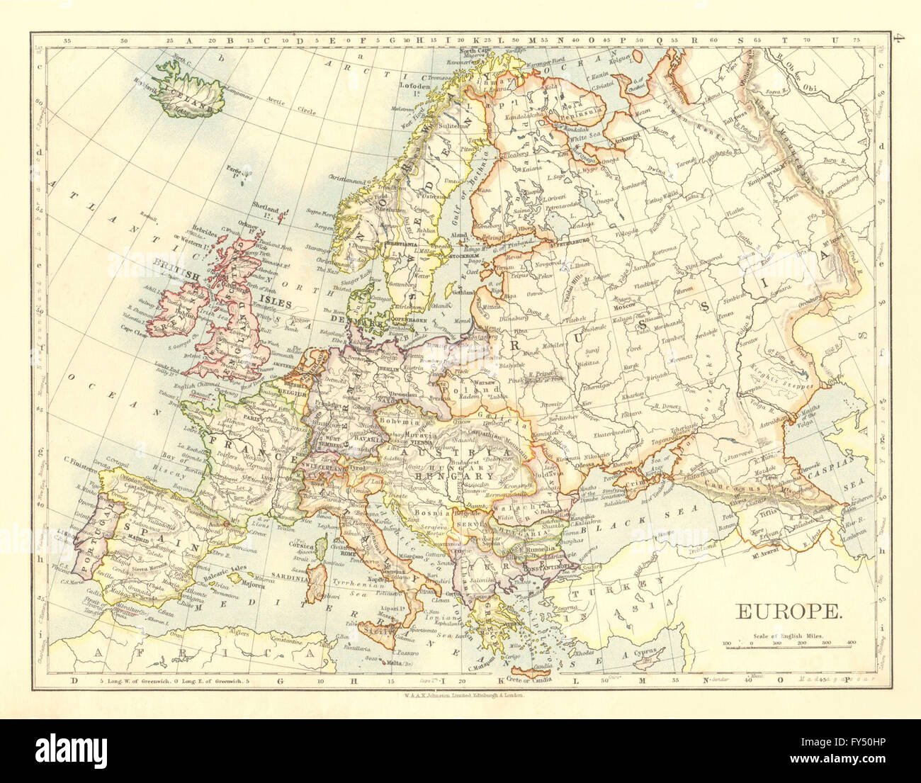 EUROPE POLITICAL AustriaHungary United Sweden Norway - Austria political map