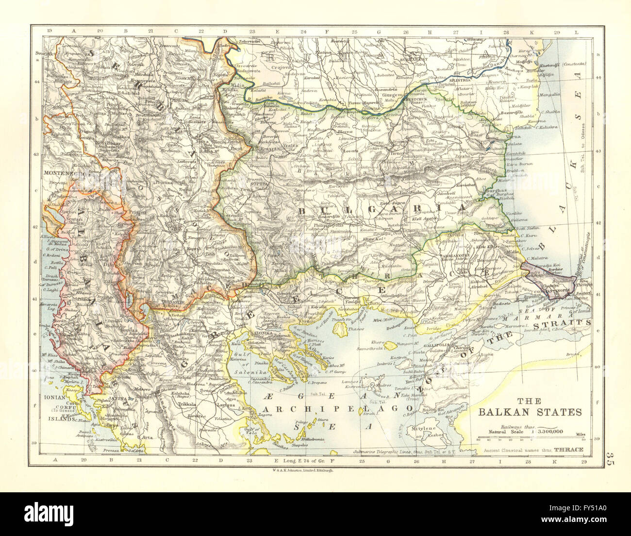 BALKAN STATES Per Treaty Of Sevres Zone Of Straits DMZ Greek - Greece in the treaty of sevres