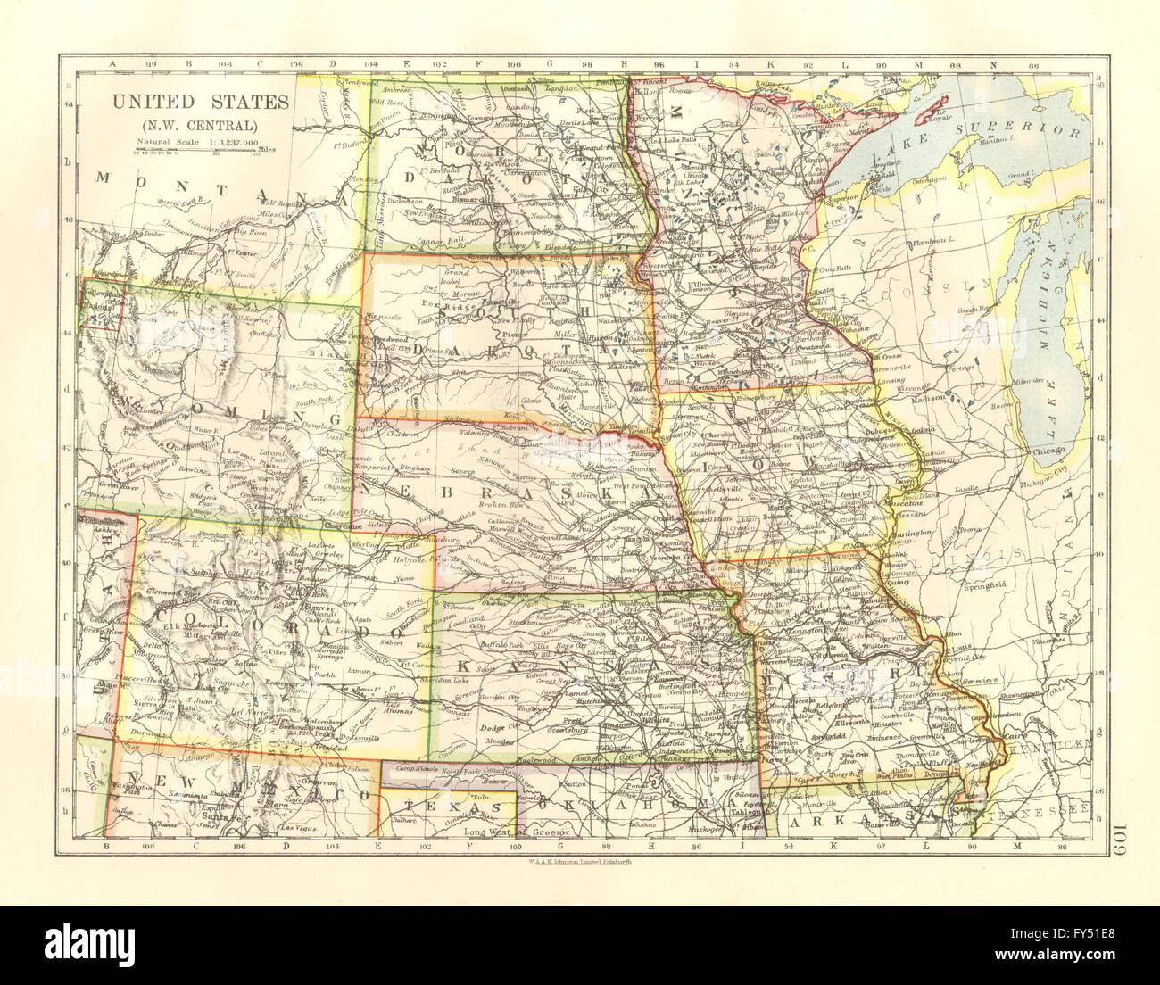 USA PLAINS STATES Iowa Minnesota Kansas NE ND SD Colorado - Map of usa where is colorado