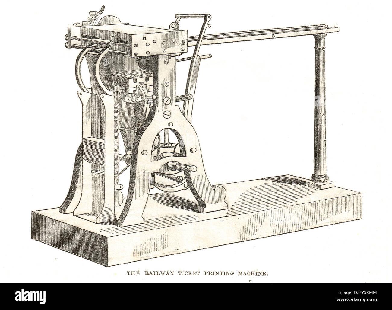 railway ticket printing machine the great exhibition of stock railway ticket printing machine the great exhibition of 1851