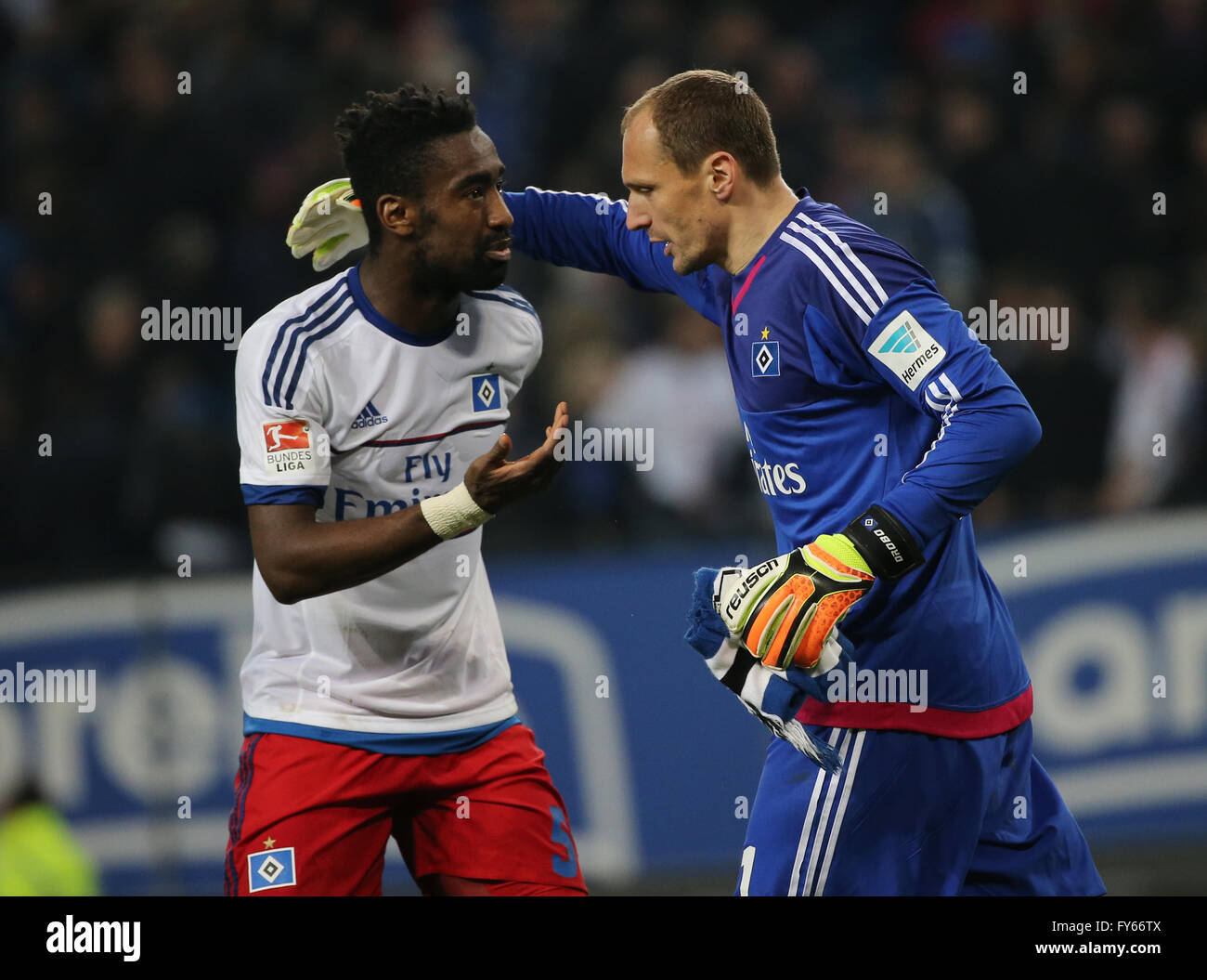 Hamburg Germany 22nd Apr 2016 Hamburg s goalkeeper Jaroslav
