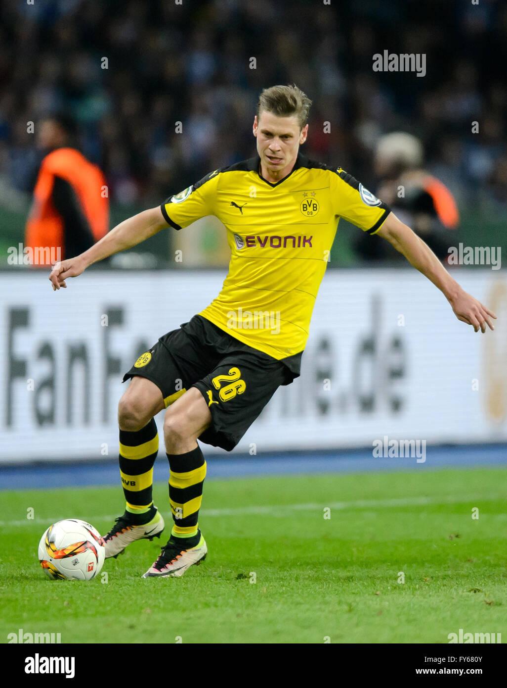 Berlin Germany 20th Apr 2016 Dortmund s Lukasz Piszczek in