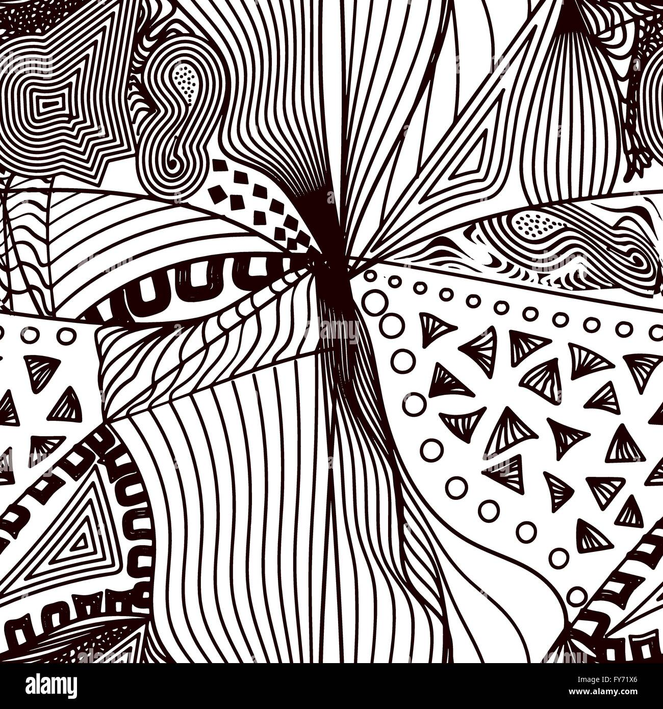 abstract seamless pattern in zentangle style vector illustration